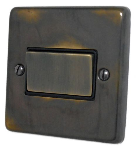 G&H CAN369 Standard Plate Polished Aged Brass 1 Gang Triple Pole 10A Fan Isolator Switch